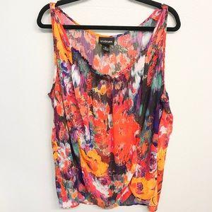 Lane Bryant Watercolor Floral Dressy Tank sz 22